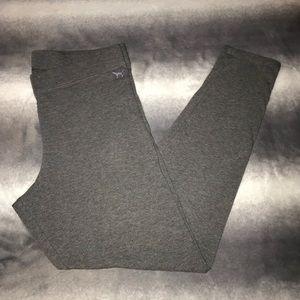 VS PINK Heathered Gray Cotton Leggings